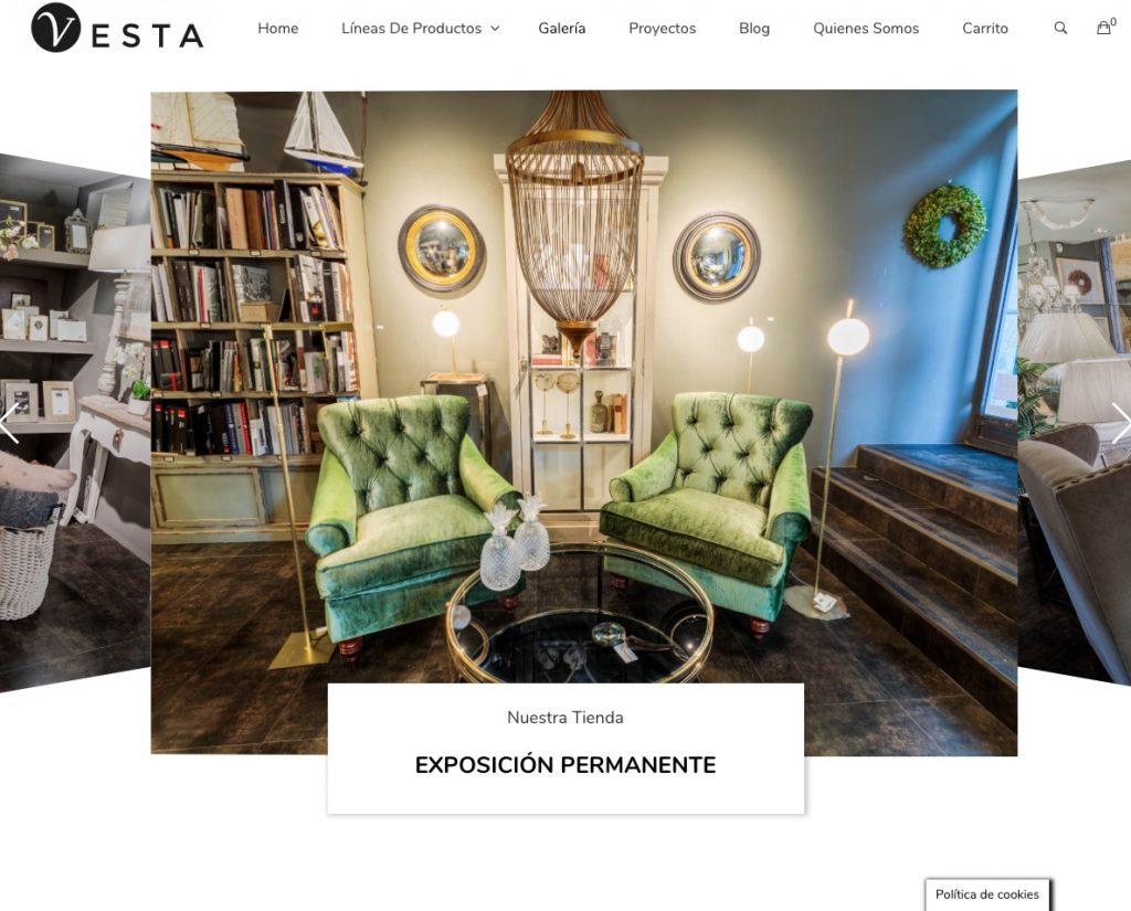 Imagen de la página Web de Vesta Salamanca